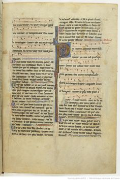 Chansons notées et jeux-partis ; [Mere au Sauveour] ; « Maistre WILLAUMES LI VINIERS » ; « LI PRINCE DE LE MOUREE » ; « LI CUENS D'ANGOU » ; « LI QUENS DE BAR » ; « LI DUX DE BRABANT » Date d'édition :  1201-1300  Français 844  Folio 175r