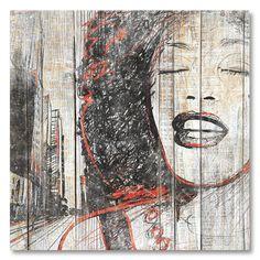 Tableau décoratif effet bois Esquisse Whitney