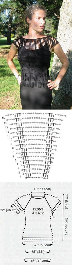 Top häkeln - crochet top ...Parece bem fácil... ♪ ♪ ... #inspiration_crochet #diy GB. Easy crochet lacy top with chart.