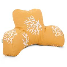 Yellow Coral Reading Pillow | FREE SHIPPING