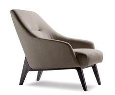 A study in retro elegance brought up to date. The sculpted form and intentionally visible support showcase form and function. I be you glide into this chair like a comfortable shoe.