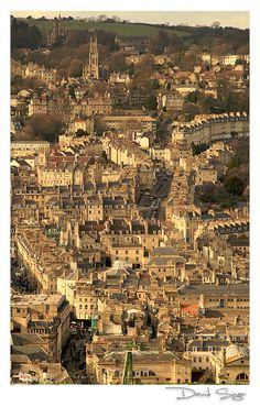 """Bath, Somerset"" ~ We moan about the hills, but the views are worth it."