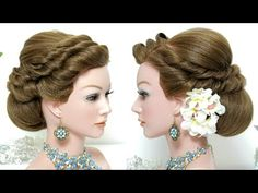 Bridal hairstyle wedding updo for long hair tutorial. Prom Hairstyles For Long Hair, Braided Hairstyles For Wedding, Wedding Updo, Hairstyles With Bangs, Bridal Hairstyle, Easy Hairstyles, Kids Hairstyle, Stylish Hairstyles, Bridal Updo