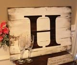 I am so excited to introduce this wedding guest book alternative. This initial sign with all of your guests signing it will be a treasured keepsake for generations to come. Each guest can either sign Wedding Signs, Wedding Cards, Wedding Decor, Wedding Rentals, Wedding Ideas, Winter Bridal Showers, Rustic Pictures, Rustic Wedding Guest Book, Wedding Guest Book Alternatives