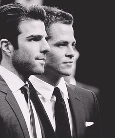 Zachary Quinto & Chris Pine. The new star trek cannot come fast enough