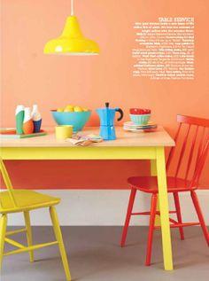 red, orange and yellow