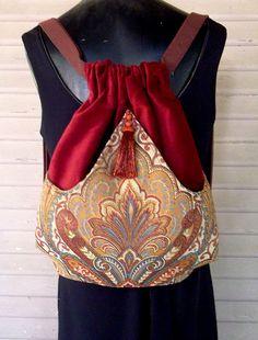 Sac à dos médaillon tapisserie Boho sacs à dos par piperscrossing
