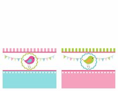 printables Tarjetas de comida párr la fiesta de cumpleaños del pájaro