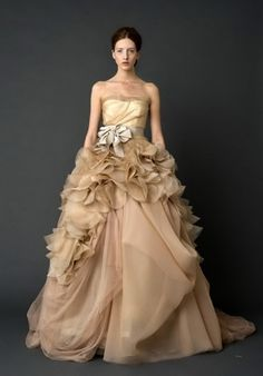 Thin Organza Wedding Gown