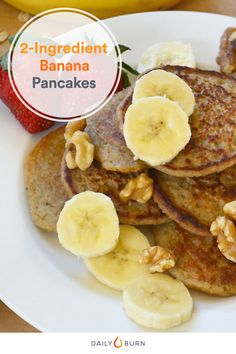 The Easiest Pancake Recipe Ever (Just Two Ingredients! Healthy Comfort Food, Healthy Meals For Two, Healthy Breakfast Recipes, Healthy Recipes, Healthy Baking, Breakfast Ideas, Healthy Foods, Yummy Recipes, Free Recipes