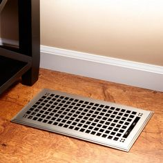Featuring the classic mission style, this beautiful floor register is ideal for any style home. The Mission Style Cast Iron Floor Register made of durable, cast iron with a rough texture finish, Cast Iron Shelf Brackets, Vent Covers, Craftsman Style Homes, Bronze, Home Hardware, Overall, Decoration, Solid Brass, Modern Decor