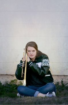 Loved taking these! Senior pictures with trumpet. By Stacy Coker Photography.