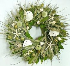 Nautical Luxuries Coastal Decor & Gifts - Ocean's Bounty Beach Cottage Wreath