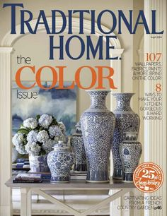 So honored to have been apart of this beautiful project for Traditional Home's April 2014 issue! Thanks Tobi Fairley