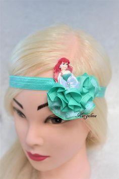Pinza de pelo de princesa Ariel cabello Clip hecho a mano pelo