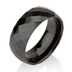 Mens Wedding Bands Tungsten Wedding Bands Black by BravermanOren