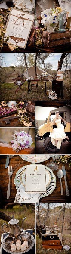 Safari Vintage Wedding