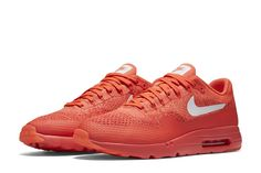"""Nike Air Max 1 Ultra Flyknit """"Bright Crimson"""" (Detailed Pics & Release Date)"""
