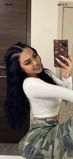 Baddie Hairstyles, Cute Hairstyles, Braided Hairstyles, Aesthetic Hair, Bad Girl Aesthetic, Hair Inspo, Hair Inspiration, Curly Hair Styles, Natural Hair Styles