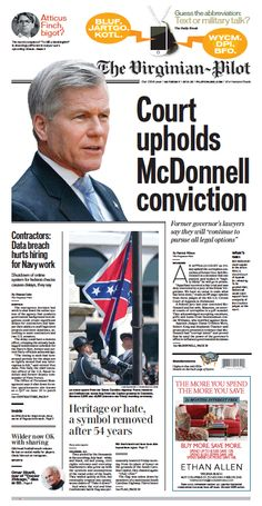 The Virginian-Pilot's front page for Saturday, July 11, 2015.