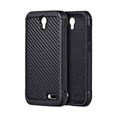 DW Carbon-tech Hybrid ZTE Grand X3 / Warp 7 Case - Black