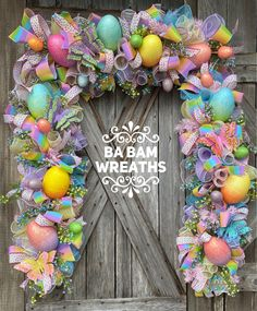Spring Garland, Easter Garland, Easter Front Door, Spring Front Door design Your place to buy and sell all things handmade Easter Garland, Easter Tree, Easter Wreaths, Diy Spring Wreath, Diy Wreath, Diy Easter Decorations, Hoppy Easter, Easter Bunny, Wreaths For Front Door