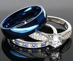 25 Best Blue Wedding Rings Images On Pinterest Jewelry Bracelets