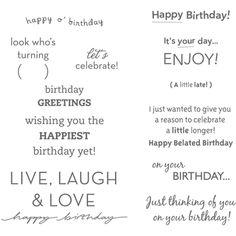 Birthday sayings