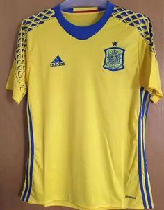 Camiseta Eurocopa 2016 Espana Portero Segunda