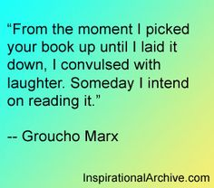 Groucho Marx quote on reading