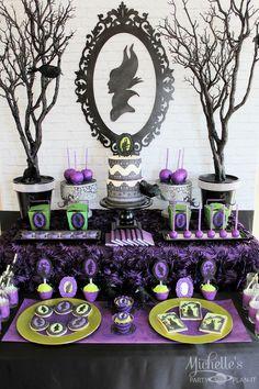 maleficent dessert table - Michelle's Party Plan-It