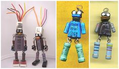 Robots built with lead-free solder using electronic components salvaged from discarded TVs and VCRs. ++ More information at obviousfront.com Facebook page ! Idea sent by DeWitt Young !…