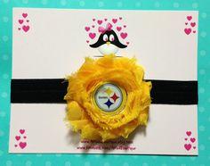 Pittsburgh Steelers headband, football headband, baby headband, infant headband, toddler headband on Etsy, $7.00
