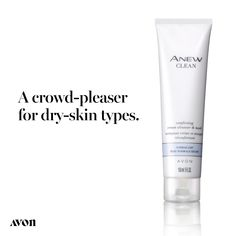This cream cleanser and mask cleanses skin of dirt, oil and impurities, helps reinforce skin's protective moisture barrier to keep skin feeling resilient, and preps skin to receive the optimal results for Anew moisturizers and treatments. Chi Hair Products, Avon Products, Tighter Skin, Oil For Dry Skin, Avon Representative, Tinted Moisturizer, Diy Skin Care, Medium, Creme