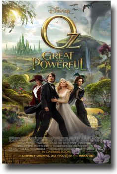I really want to see this one! Oz: The Great and Powerful Poster - Movie Promo Flyer All 4 Main CS