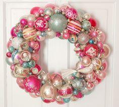 death by cupcake ornament wreath - Google Search