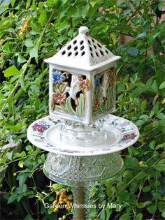 Teapot Whimsy 2 : Fun, playful teapot garden totem.