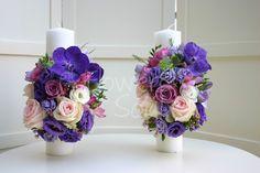 Flowers of Soul: Lumanari de cununie Candels, Diana, Wedding Flowers, Wedding Ideas, Giant Paper Flowers, First Holy Communion, Wedding Ceremony Ideas