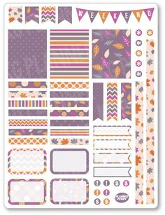 Purple Autumn Dec... added to the shop! View/purchase at http://www.plannerpenny.com/products/purple-autumn-decorating-kit-weekly-spread-planner-stickers?utm_campaign=social_autopilot&utm_source=pin&utm_medium=pin