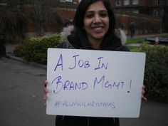 No #1 on this students #alumnichristmas wishlist was a job in brand management