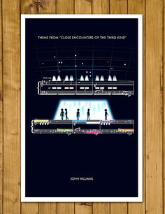 Close Encounters of the Third Kind Poster on Etsy from today... https://www.etsy.com/uk/listing/268678372/close-encounters-of-the-third-kind-theme