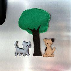felt fridge magnets