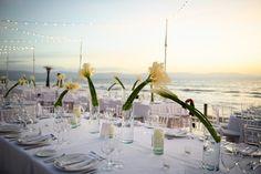 Wedding dinner by the beach.  Photo by Edmonson Photography.