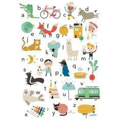 Affiche Alphabet Studio Makii vers.uk- 50x70 cm