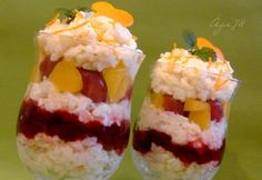 Sushi, Dessert Recipes, Food And Drink, Rice, Pudding, Fruit, Ethnic Recipes, Plus Size, Cakes