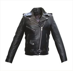 Womens Full Cut Leather Motorcycle Jacket with Zip-Out Liner & Removable Belt by Allstate Leather. www.mymotorcycleclothing.com