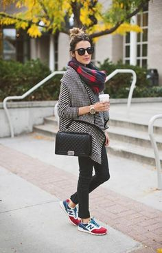 Comfy AND cute! We love this look by Hello Fashion Blog. #Style #Fashion