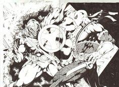 Taskmaster vs Deathstroke by Jose Luis