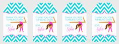 Items similar to Gymnastics Birthday Favor Tags Printable- CUSTOM to any color scheme (digital file) on Etsy Gymnastics Birthday, Goodie Bags, Favor Tags, Color Schemes, Favors, Goodies, Printables, Digital, Children