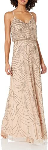 Great for Adrianna Papell Women's Spaghetti Strap Beaded Blouson Gown taupe bridesmaid dresses. ($287.82) doodeeshopping from top store Petite Dresses, Short Dresses, Taupe Bridesmaid Dresses, Sexy Backless Dress, V Neck Midi Dress, Ball Gown Dresses, Gowns Online, Spaghetti Strap Dresses, Adrianna Papell